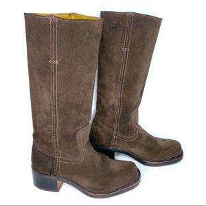 FRYE Campus 14L Vintage Suede Riding Boots